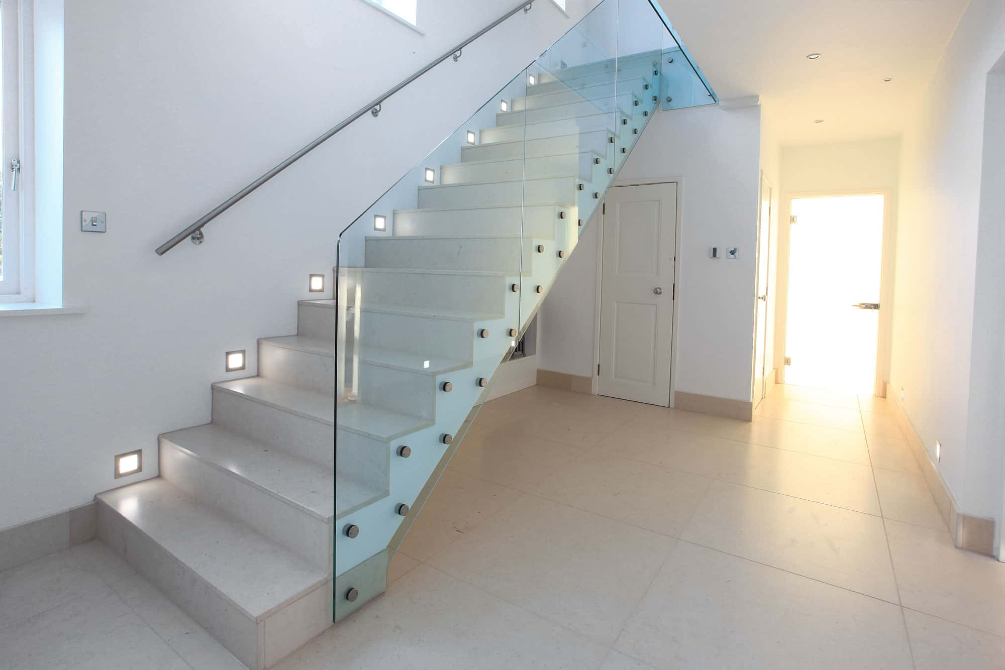 Ultra modern glass balustrade