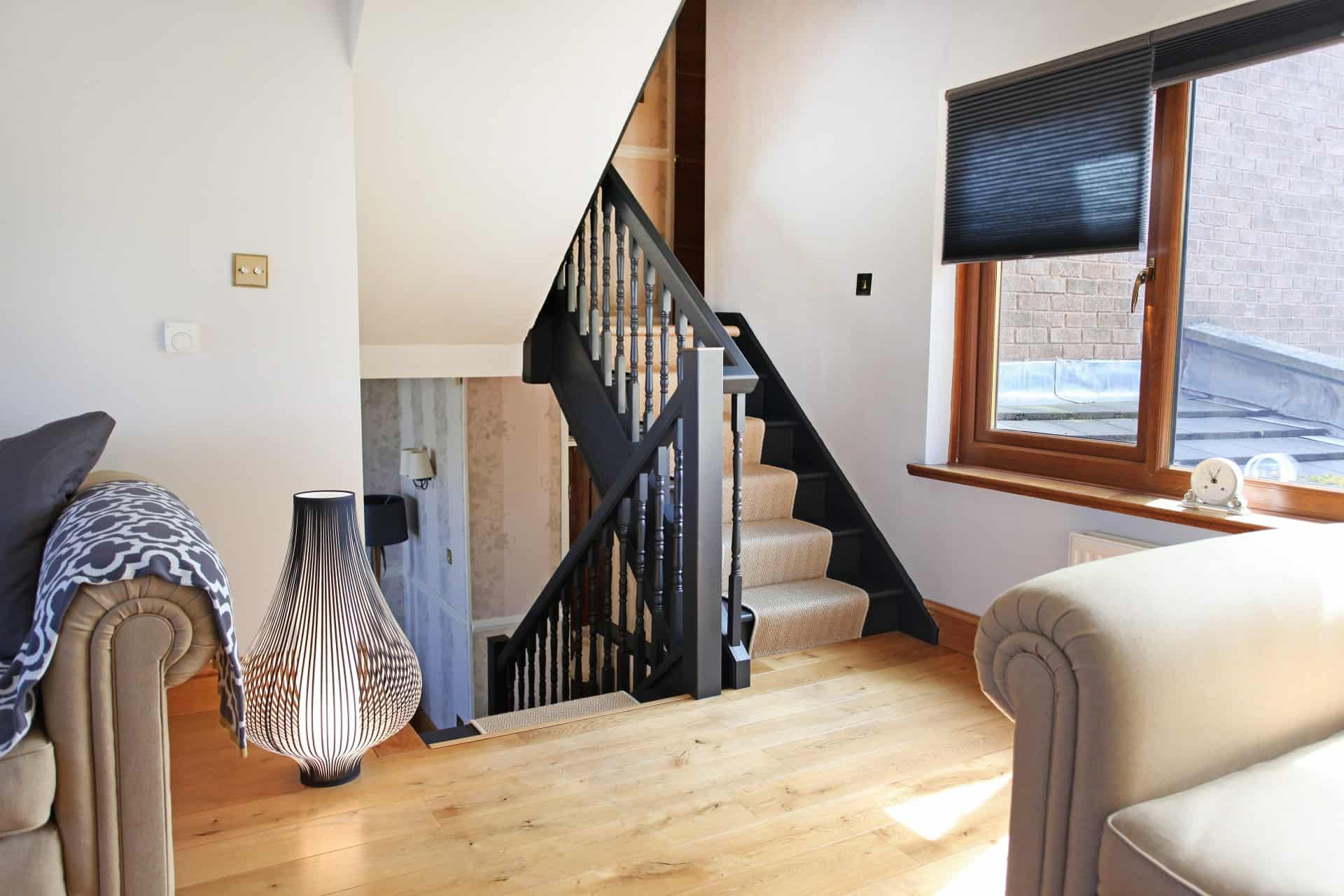 black spindle balustrade