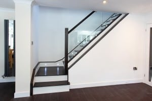 Anthracite and Glass Balustrade