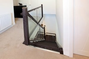 Anthracite Glass stairs and landing